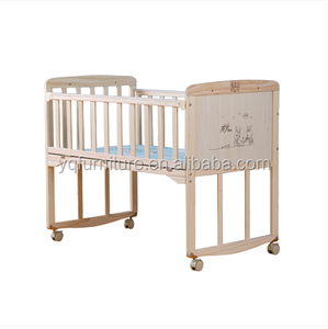 Real wood crib environmental protection wave children bed variable bed desk Baby cradle crib