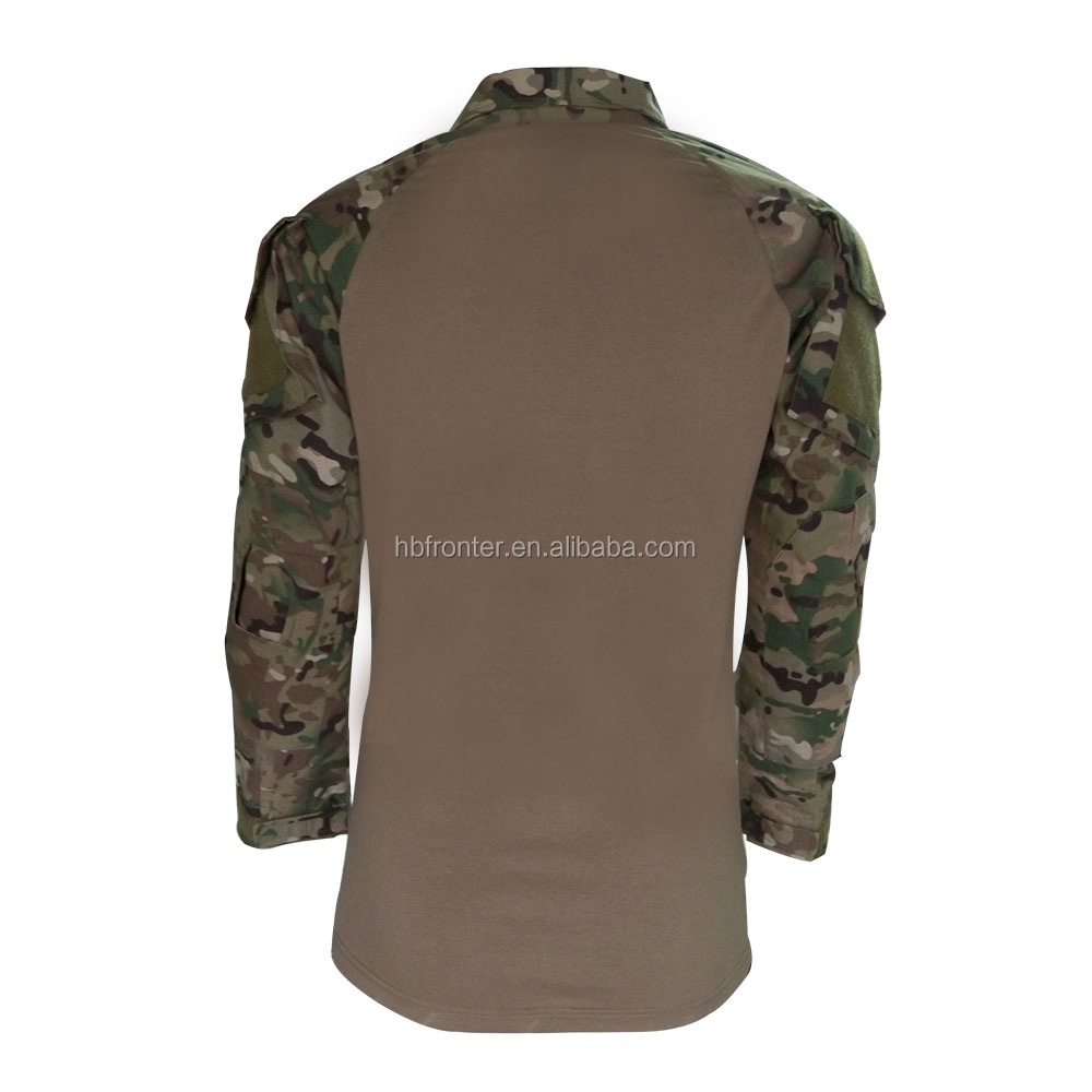 Factory Stock Multicam Camouflage Tactical Jacket Rip-stop Fabric Military Clothes with Detachable Elbow Pads