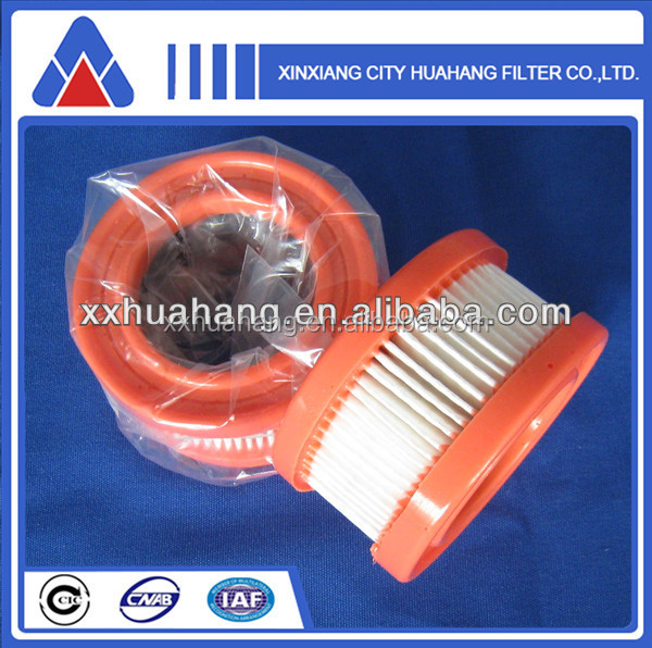 Pleated pu air filter cartridge belong to micro air filter element