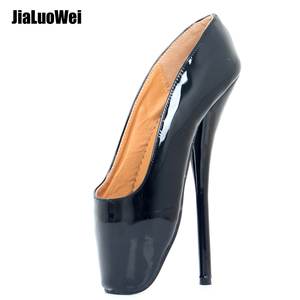 "Jialuowei Women Ballet Pumps 7"" High Heel Pointed-toe Pu Leather Sexy Spike Heels Unisex Shoes For Party Clubwear Cosplay"