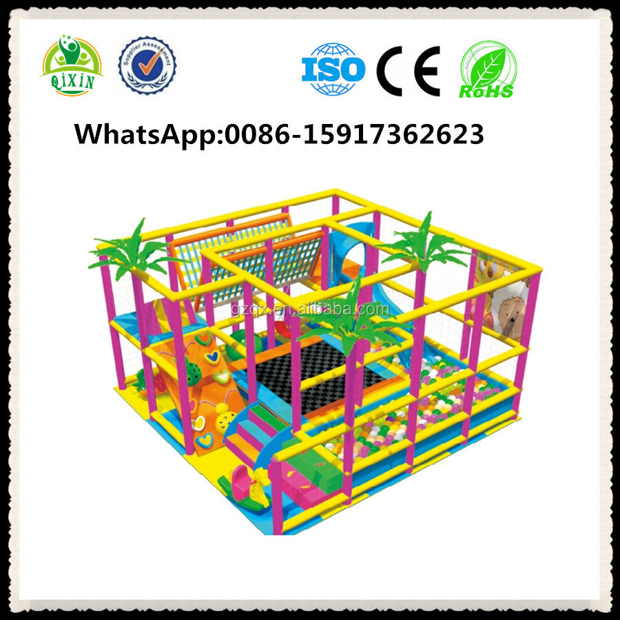 Pink color small indoor playground,indoor playground equipment prices,children commercial indoor playground equipment QX-107B