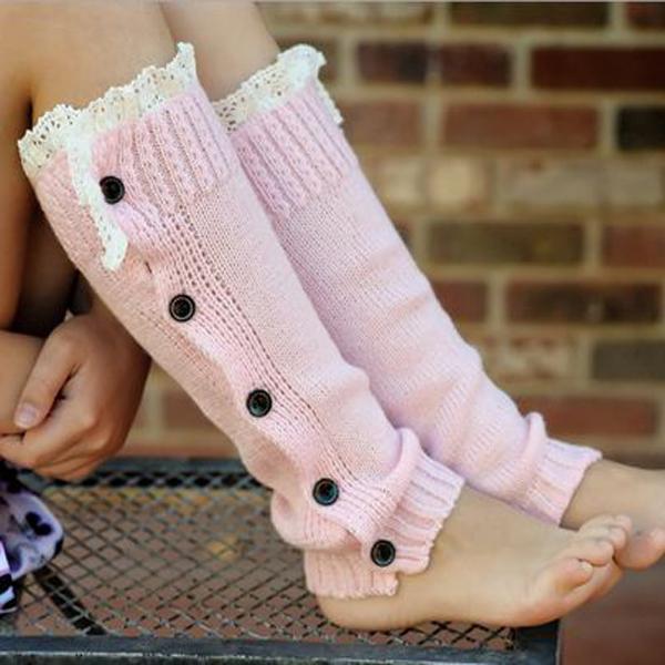 Aliexpress Com Buy Girls Legwarmer Soft Slouchy Button