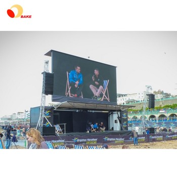 Ali express hot sale large billboard flexible stage or wall mounted p8 led display outdoor advertising video screen