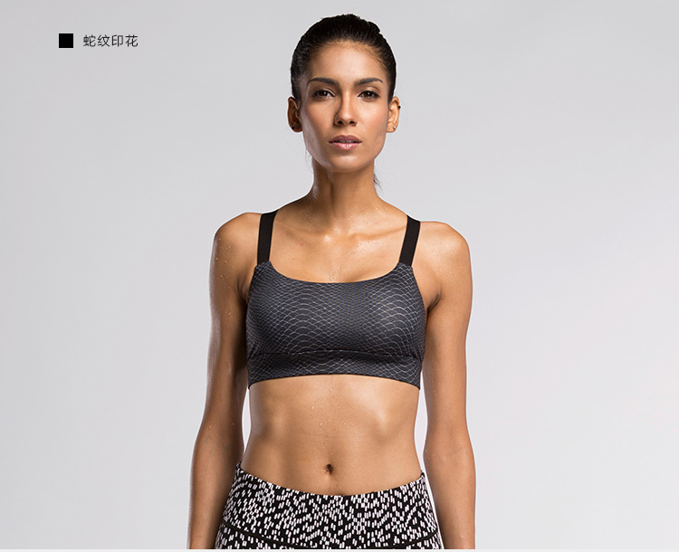 Women Sport Bra Padded Crossed Band Running Fitness Seamless Bra Wholesale for Sport Bra