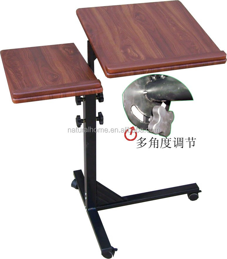 Office Furniture Recliner Laptop Table Portable Wooden Adjustable Laptop  Table On Wheels   Buy Furniture Moving Wheels,Computer Table Wheels,Desktop  ...