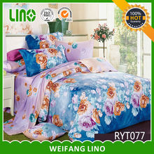 family bed cover/quality cotton bed sheet/printed wholesale home goods
