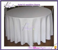 cheap round table cloth, basic poly tablecloth, white tablecloth( dia-132