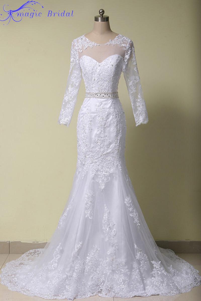 Vestido-De-Noiva-Sereia-2015-Vintage-White-Lace-Mermaid ... Lace Mermaid Wedding Dress