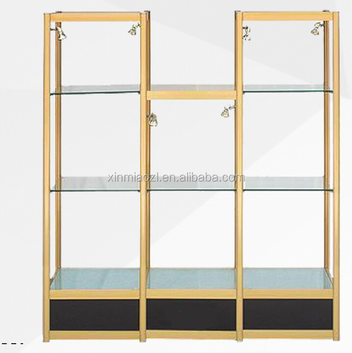 support de verre tag re pour vitrine tag re en verre en showcase aluminium vitrine. Black Bedroom Furniture Sets. Home Design Ideas