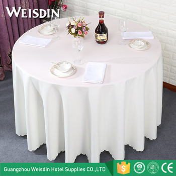 Made In China Cheap Polyester White Plain Party Wedding Round Table Cloth