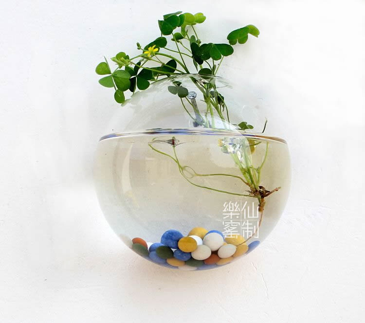 How To Decorate Fish Bowl: Glass Wall Planter Vase,Wall Bubble Planter Terrarium