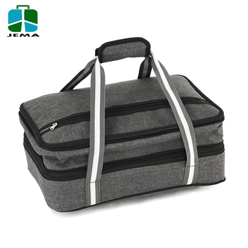 Expandable Oversized Insulated Food Delivery Bag Hot And Cold Thermal Polyester Lunch Box Cooler