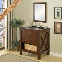 30 inch single sink traditional bathroom vanity with granite top