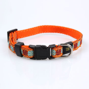 2019 low price wholesale nylon pet trainer collar making supplies with woven logo