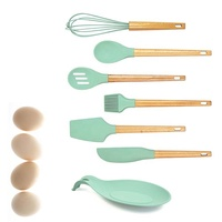 FDA LFGB Heat Resistant Premium Baking Tools Set Cooking Turner Spoon Scraper Kitchen Silicone Spatula