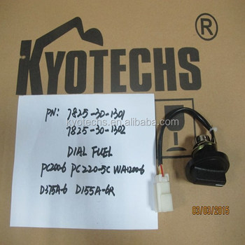 excavator products high quality excavator DIAL FUEL FOR 7825-30-1301 7825-30-1302 PC200-6 PC220-5C WA1200-6 D375A-6 D155A-6R