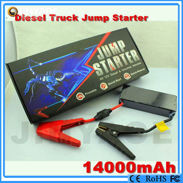 Huge capacity CE/FCC/ROHS Approved portable jump starter car towing equipment