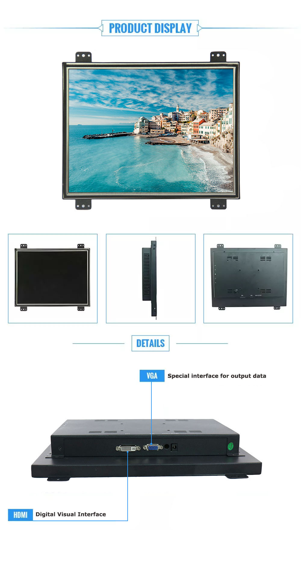 15 inch USB powered computer LCD LED monitor OEM lcd monitor