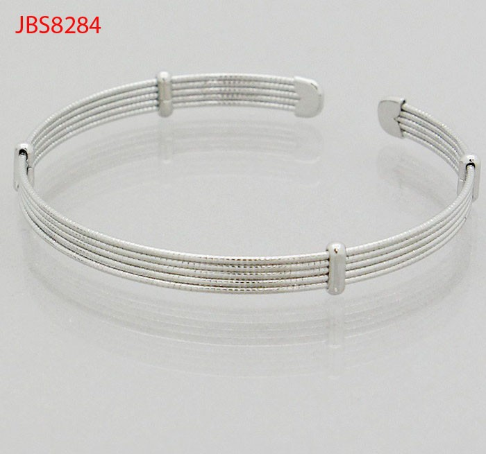 Hot selling fashion design wire metal tip station cuff bangle bracelet