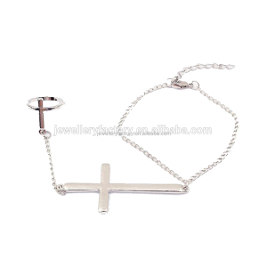 Slave Chain Cross Hand Harness Finger Ring Bracelet