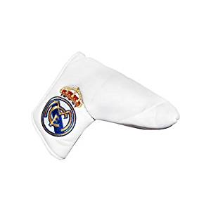 Real Madrid F.C. Blade Puttercover & Marker- Blade Puttercover- With Detachable Ball Marker- Velcro Opening- Approx 17Cm X 15Cm X 6Cm- In A Blister Pack- Official Football Merchandise