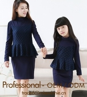 family clothing sets parent-child dresses romantic leisure party dress mother daughter clothing apparel