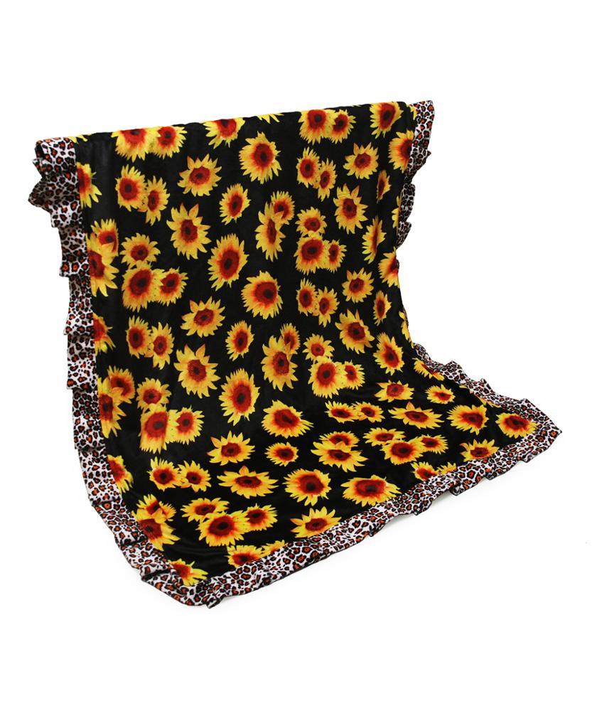 Wholesale Sunflower Baby Blanket Cotton Mindy Dot Baby Blanket Leopard Baby Wrap Custom Serape Stripes, Snakeskin DOM-1081310, Serape;leopard;black sunflower;white sunflower;snakeskin