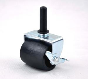 50mm black bed casters