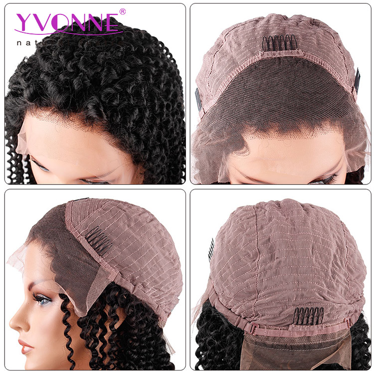 Hand tied cheap kinky twist braided lace wigs for black women