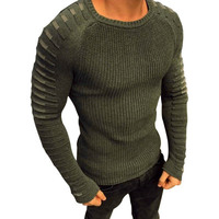 2019 Men Sweater Pullover O-neck Slim Fit Knitting Long Sleeve Sweaters Fashion V-neck Mens Sweaters M-XXXL