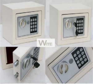 JY Mini Square Jewelry Cabinet Digital Key Lock Safes