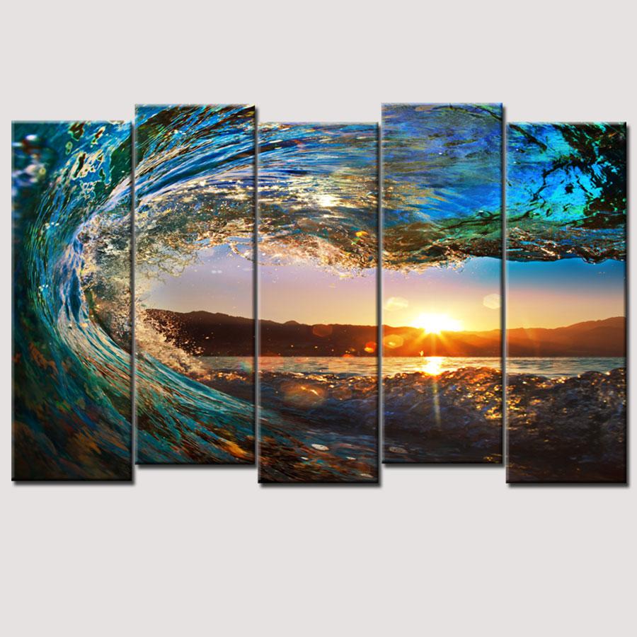 Ocean Waves Oil Painting Reviews - Online Shopping Ocean