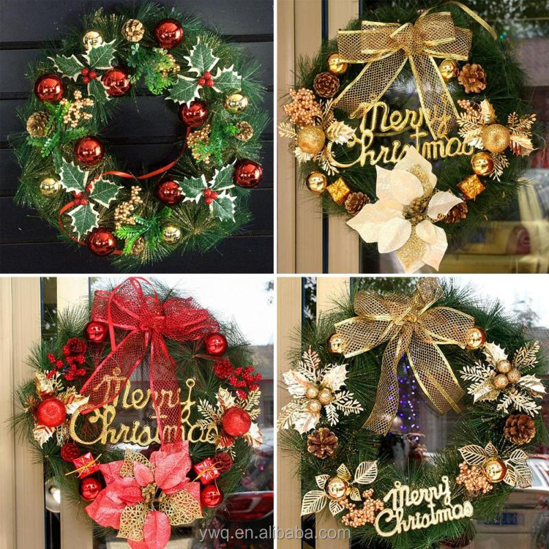 Hot sell cheap Custom indoor merry christmas wreath for <strong>decoration</strong>