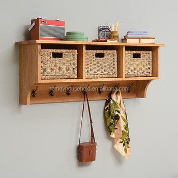 40 Cubby Shelf Unit Wooden Wall Hanging Coat Racks With Baskets And Interesting Wall Coat Rack With Baskets