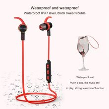 Waterproof Wireless Bluetooth Headset for Sports in retail box ( Red and Green Color)