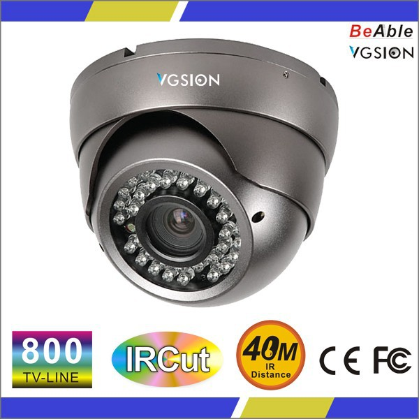 Varifocal lens Vandal proof IR dome camera HDIS 800 TVL Analog Dome Camera