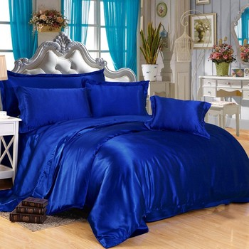 Satin Silk Like Solid Color Bedding Set Duvet Cover Silk Pillowcase Pure Silk  Sheets