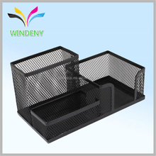 Office supply metal wire mesh pen desk organizer/pen holder