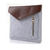 Factory price customize all size wool knit felt leather laptop sleeve in china