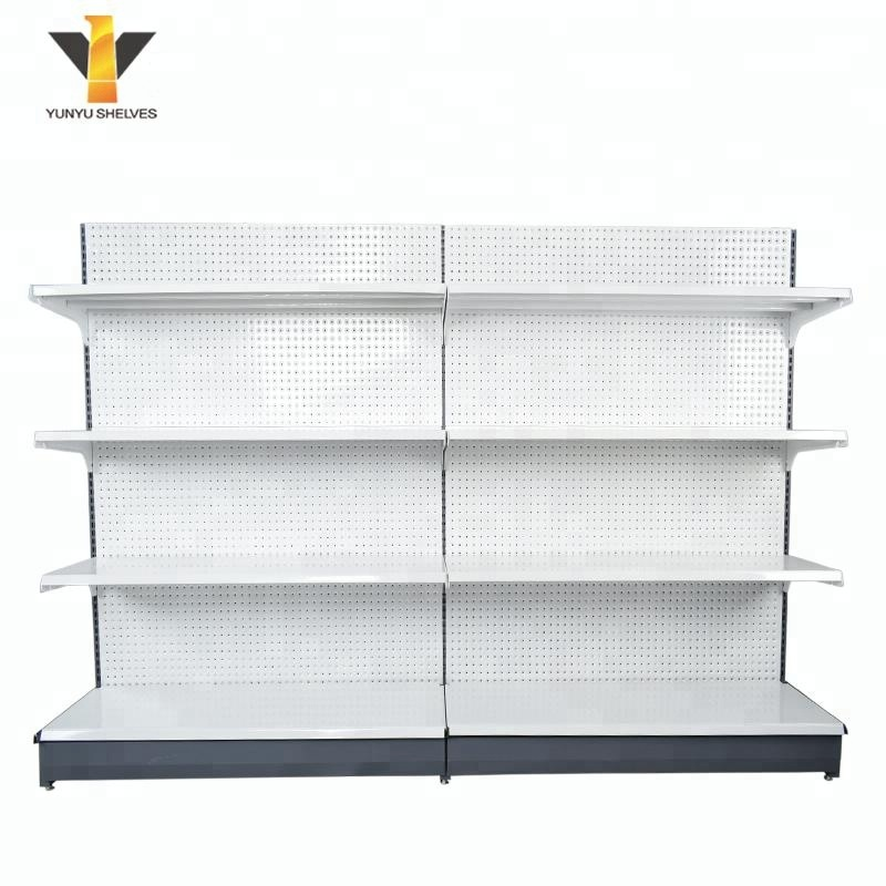 Heavy Duty Cold-rolled Steel Gondola Shelf Customized Metal Supermarket Shelves Display Shelving Racking Plant Stand