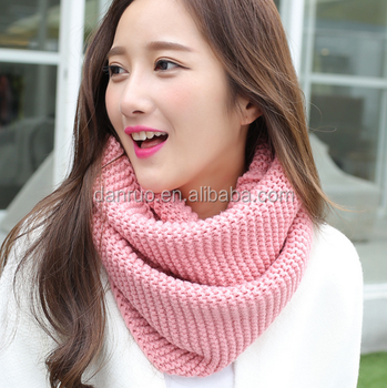 Korean women's neck warm and thick-coloured ladies' scarf