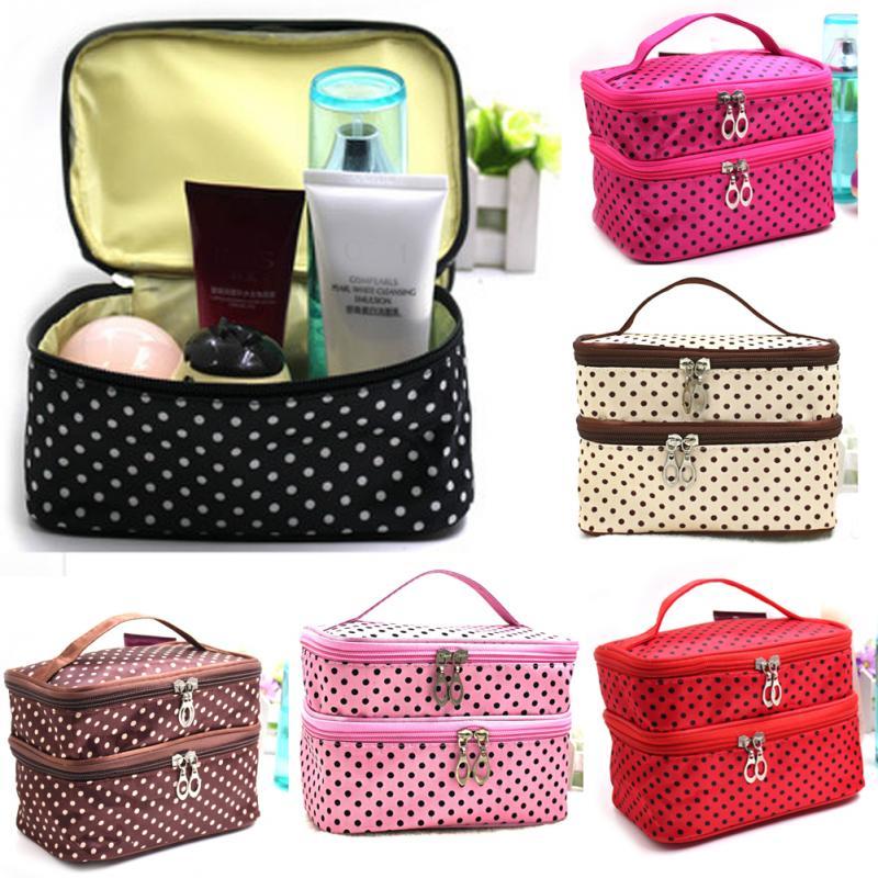 737b74e093b0 Wholesale- 2017 New Fashion Double Layer Women Bag for Makeup ...