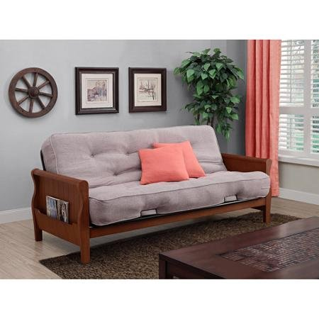 Get Quotations · Better Homes And Gardens Wood Arm Futon With Coil Mattress  (Taupe)