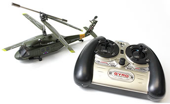 Syma S102G 3CH RC Indoor Mini UH-60 Black Hawk Helicopter w/ Built in Gyro (Green)