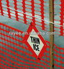rolled orange plastic safety fence/orange-red plastic safety fence