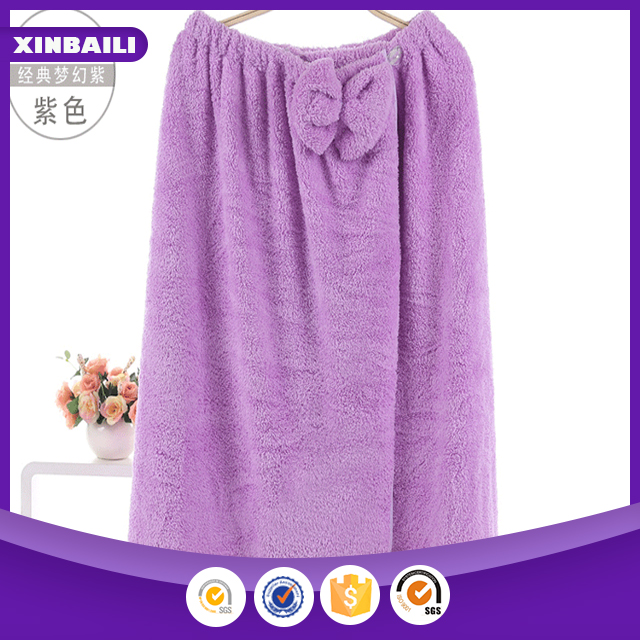 wholesale microfiber bound bath dress with bowknot