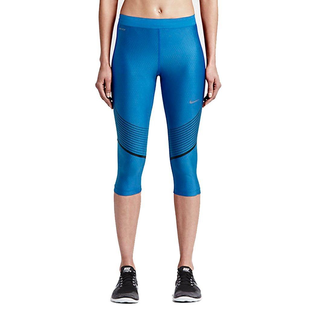 Nike Power Speed Women s Running Capris Tights Black w  Multi Stripes a0b1bda7d