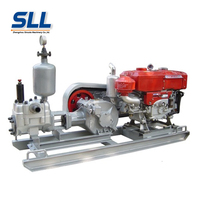 Single Dual Piston Grouting Injection Pump Concrete Injection Machine Grouting Mortar Pump