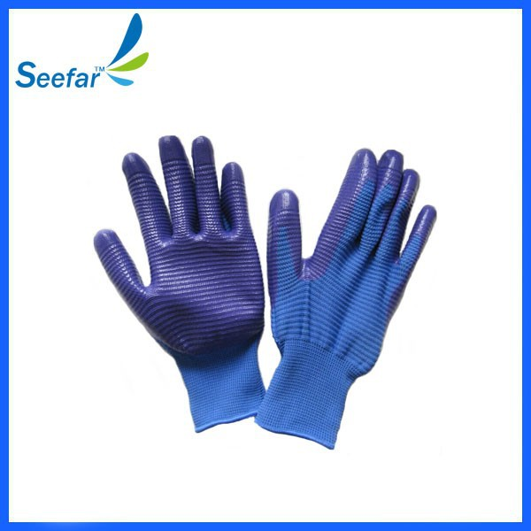 cotton gloves with pvc dots on plam