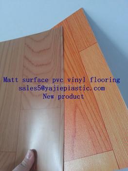 0 5mm 7mm 1 0mm Matt Surface Pvc Vinyl Flooring Hard Cutting Condition Plastic